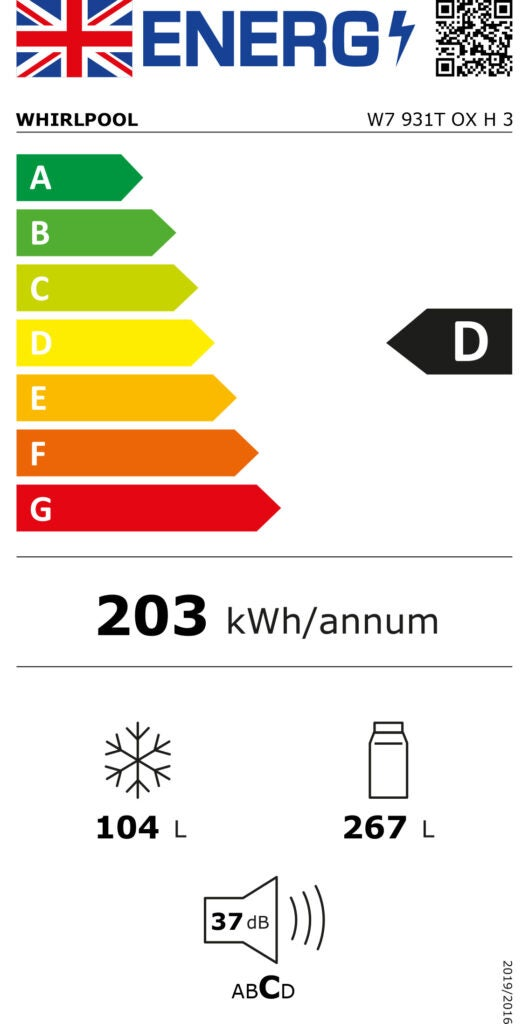 Example of the new energy label