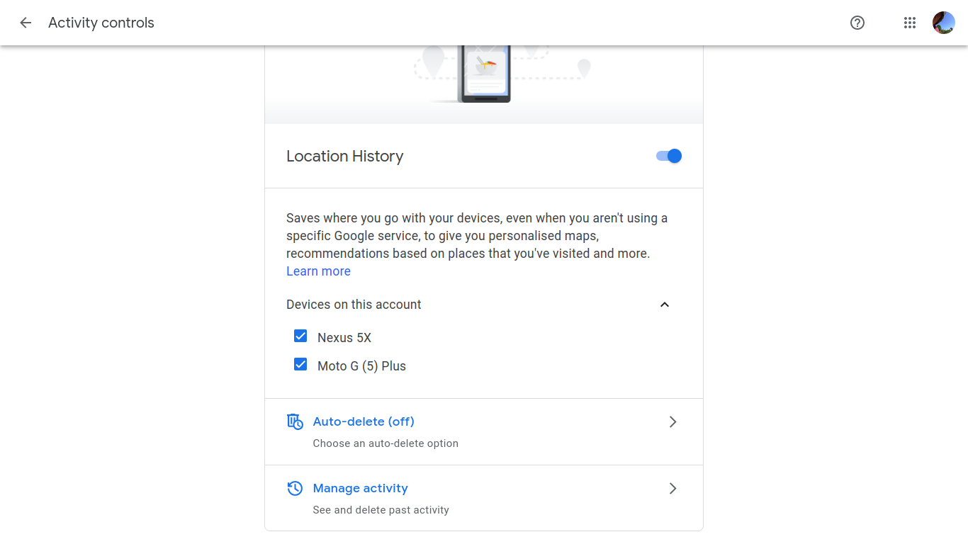 Devices using location with Google Assistant