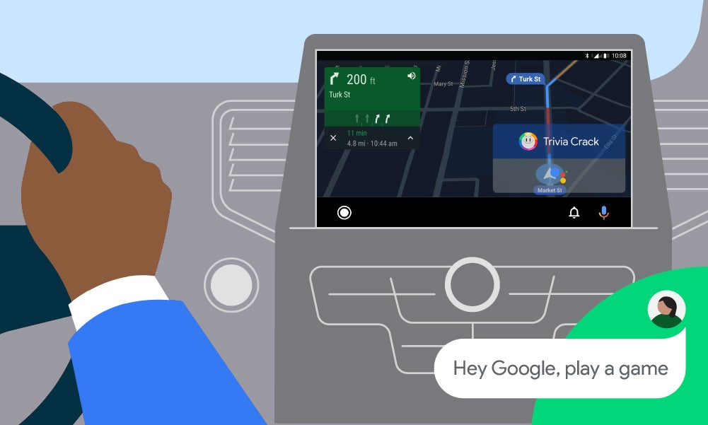 Google Android Auto Play Game