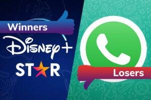 Winners and Losers Disney Star WhatsApp