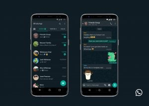 whatsapp dark mode android