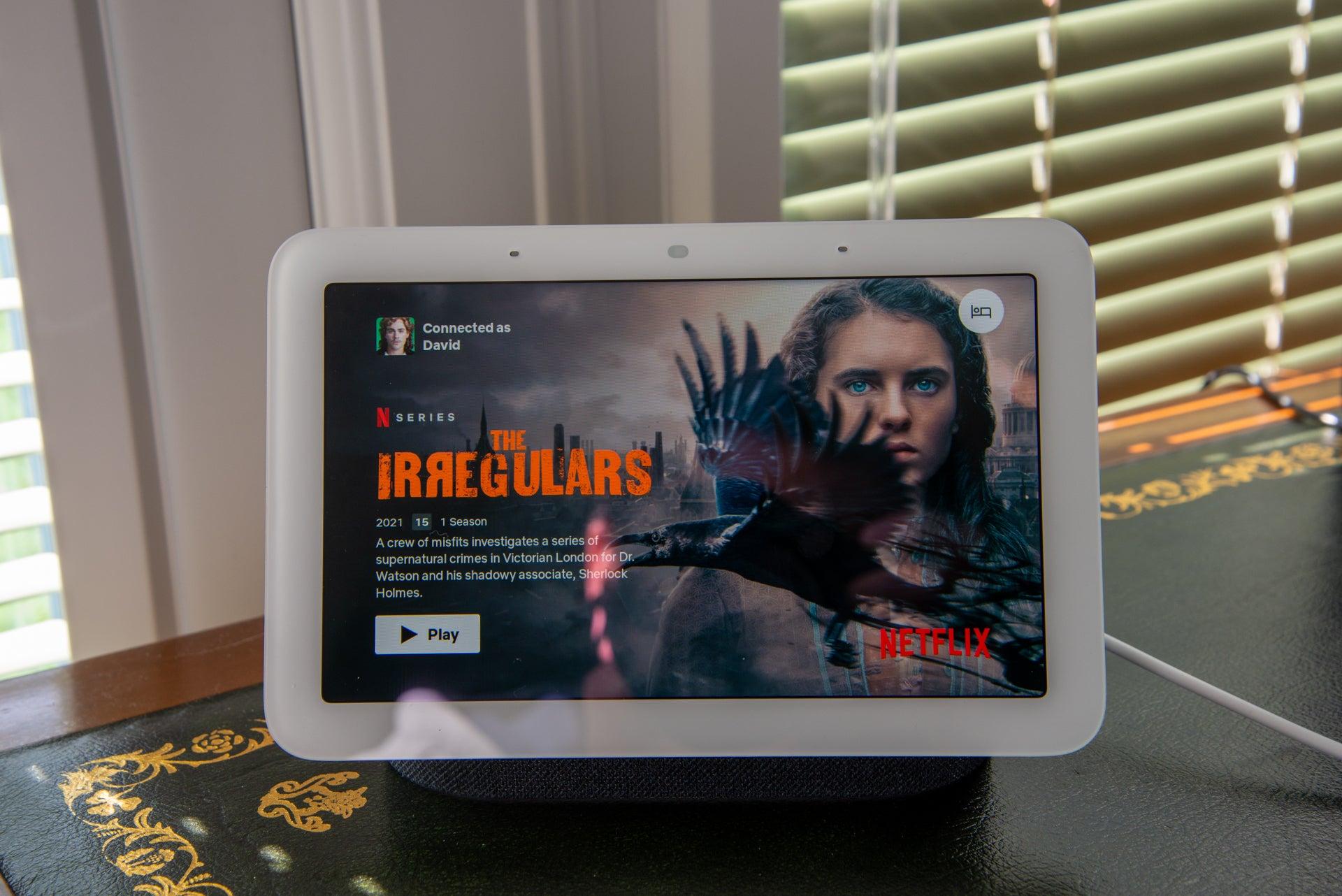 Google Nest Hub (2nd gen) Netflix