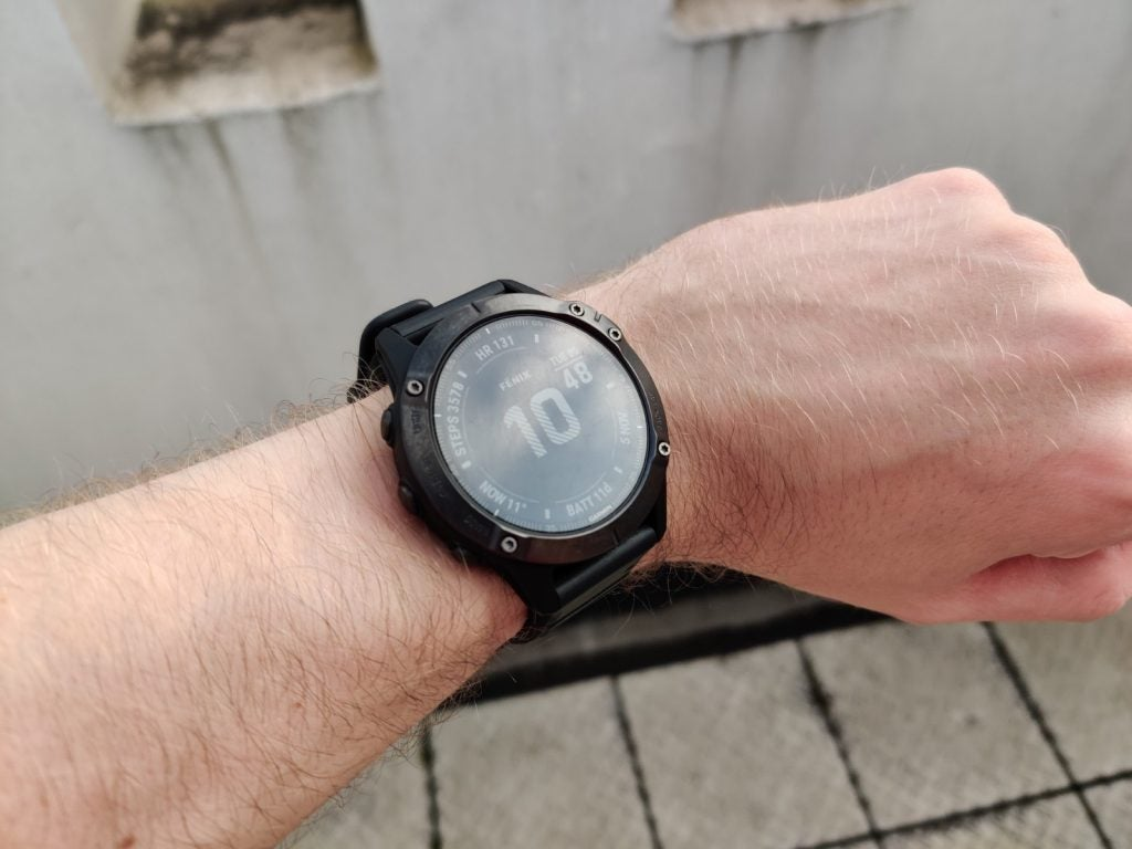 Garmin Fenix 6 worn