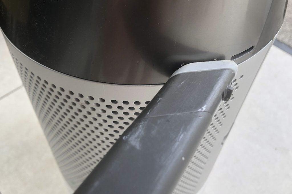 Vacuuming a Dyson fan's sensor ports