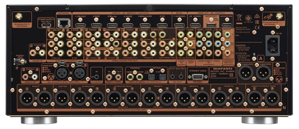 Marantz AV8805A rear connections
