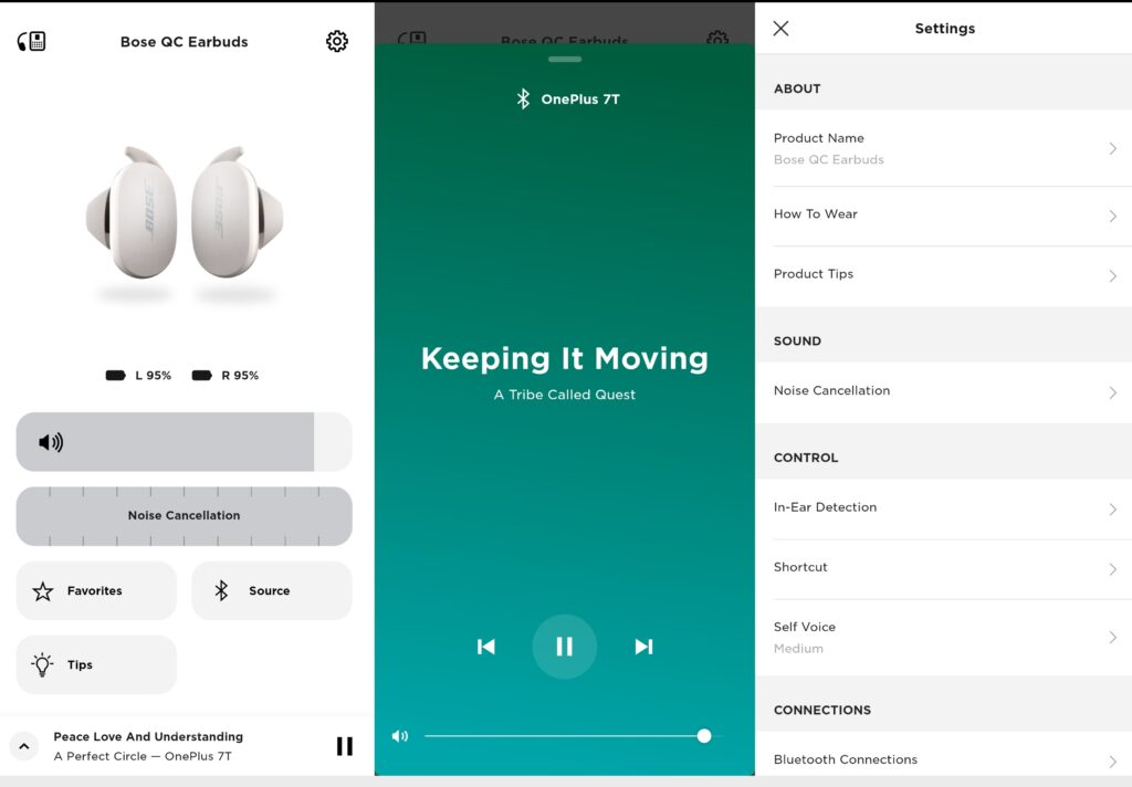 Bose Music app for the Bose QC Earbuds