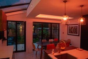 Build a smart home extension internal lights