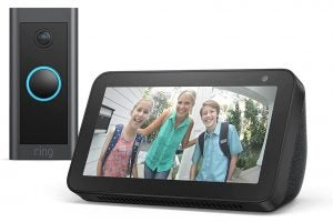 Echo Show 5 and Ring Wired Video Doorbell Wired deal