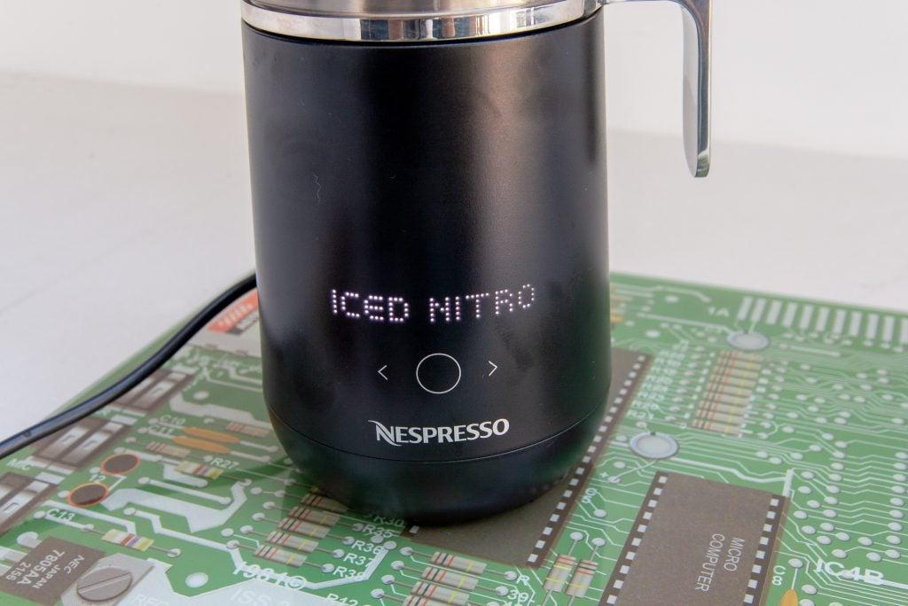 Nespresso Barista controls