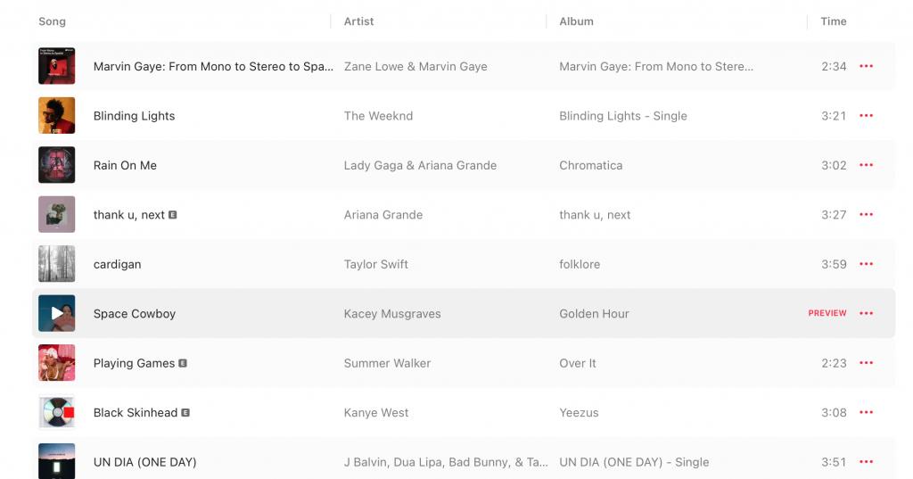 Apple Music Spatial Audio Playlist