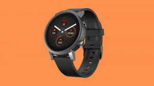 A product shot of Mobvoi's super affordable TicWatch E3 wearable