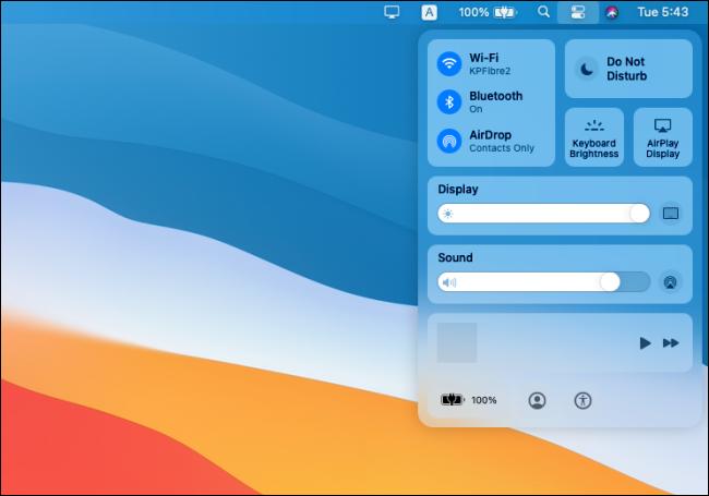 MacOS Control Panel