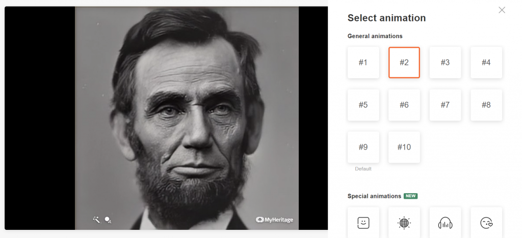 How to animate old photos with MyHeritage