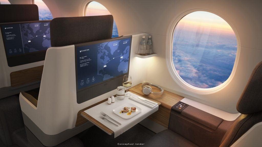 United Boom Supersonic interior