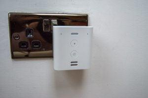 Amazon Echo Flex plugged in