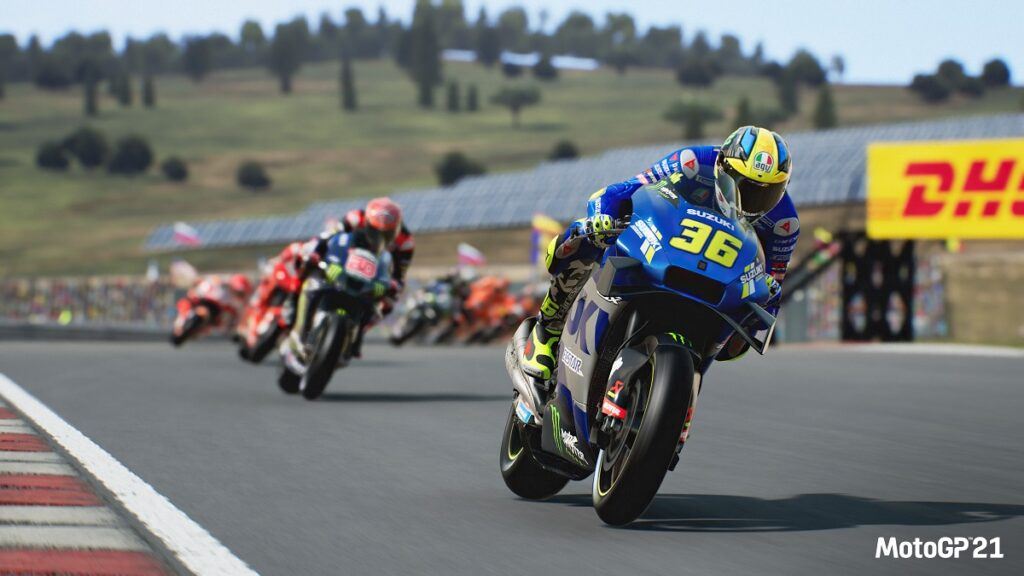 Bikes racing on Moto GP 21