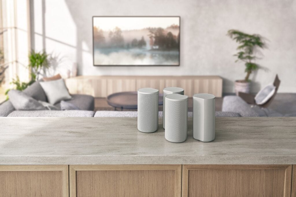 The four wireless HT-A9 speakers