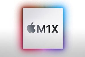 Trusted Reviews mock-up design of the Apple M1X logo