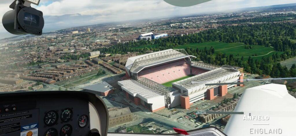 Microsoft Flight Simulator Anfield