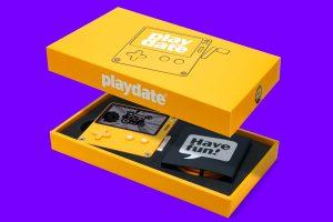 Playdate console in box