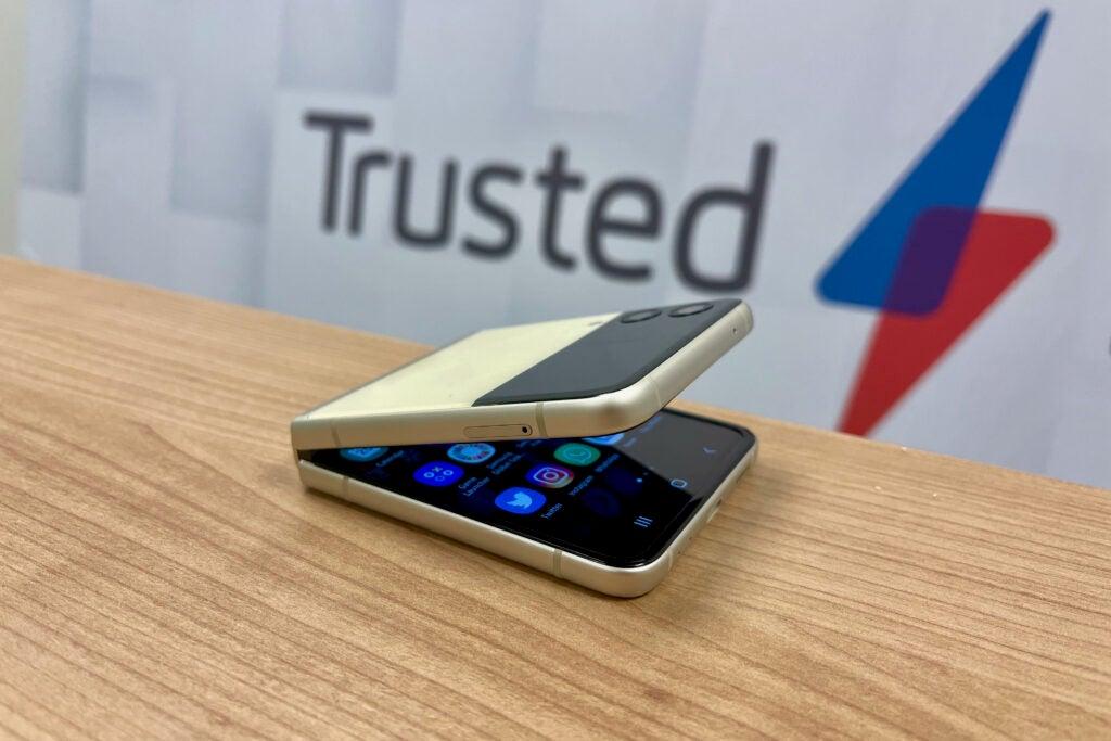 Samsung Galaxy Z Flip 3 half open