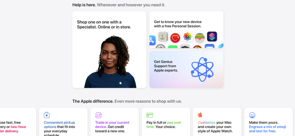 Apple Store new update 2021 Help Section