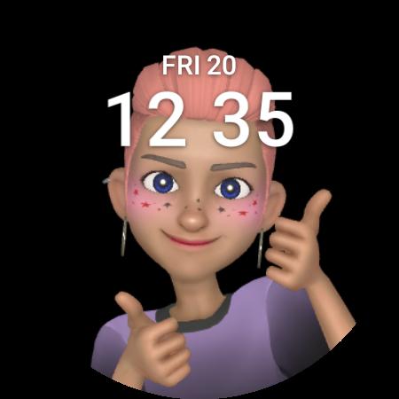 The AR Emoji watch face for Galaxy Watch 4