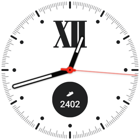 The Simple Classic watch face for Galaxy Watch 4