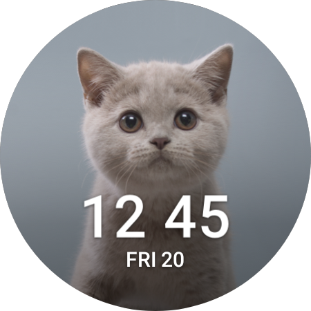 The MyPhoto Plus watch face for Galaxy Watch 4