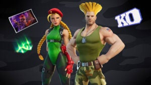 Guile and Cammy Street Fighter Fortnite