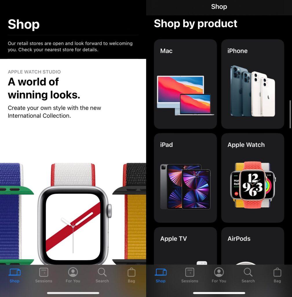 iPhone Apple Store 2021