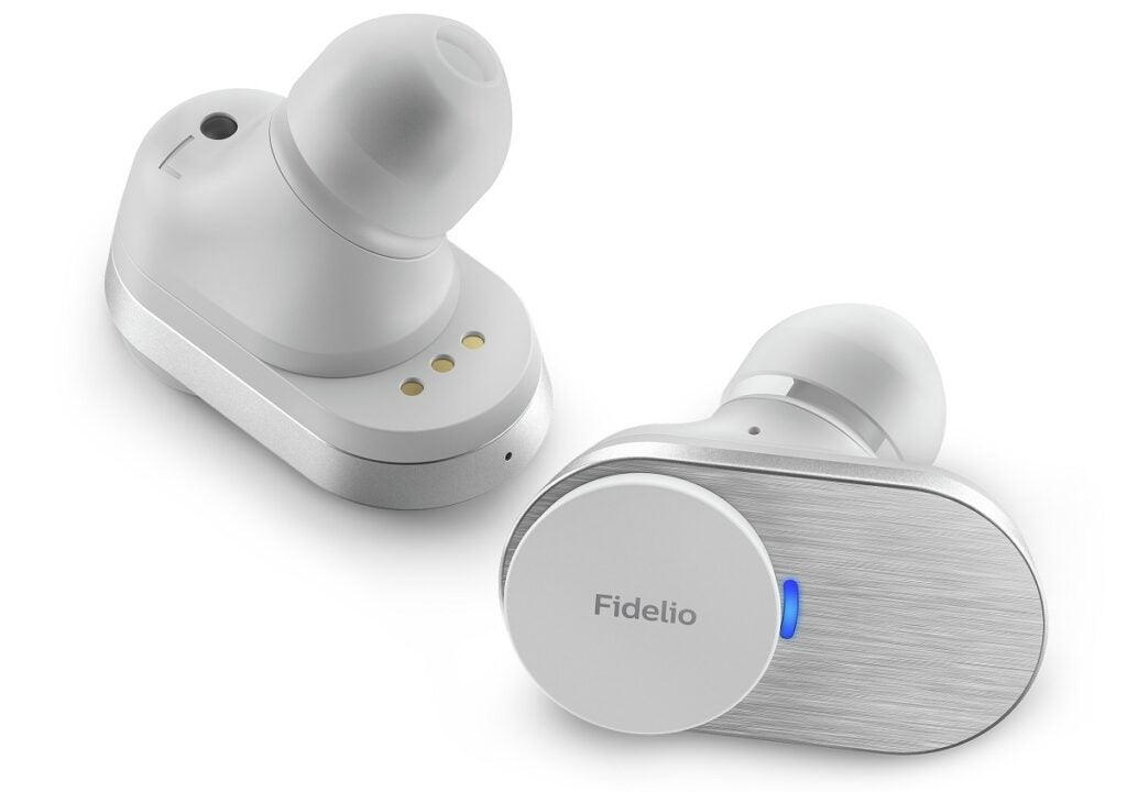 Philips Fidelio T1 white earbuds