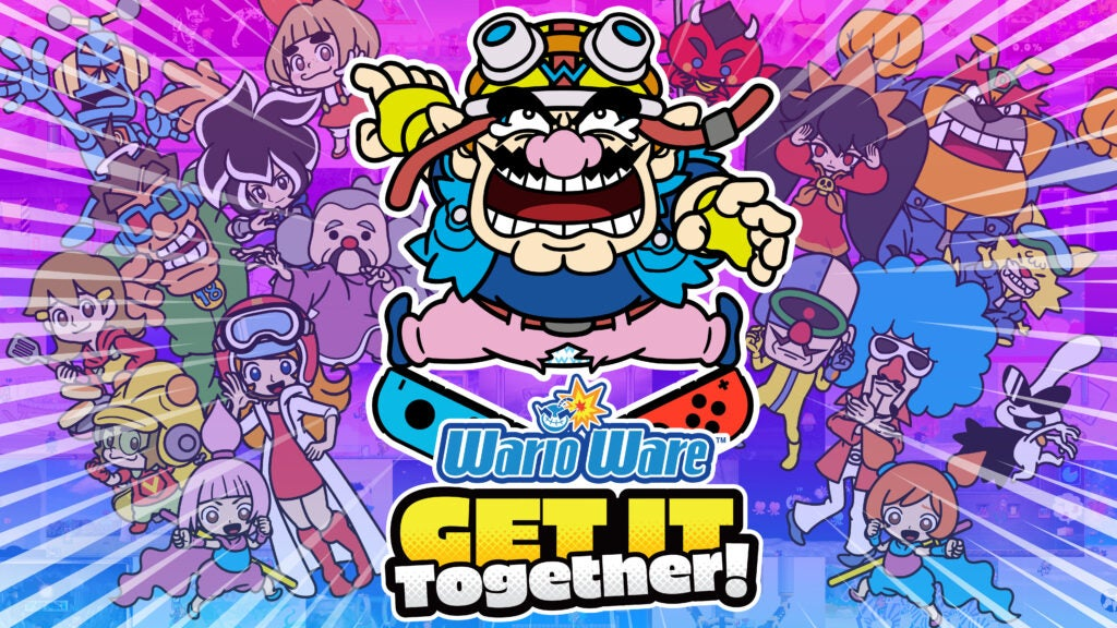 The title screen for WarioWare: Get it Together!