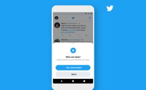 Twitter reply settings