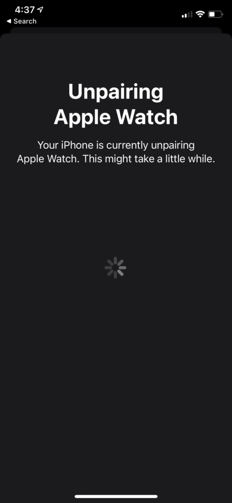unpair Apple Watch Unpairing Apple Watch